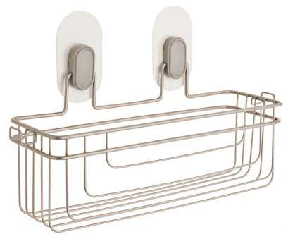 Apollo Hardware Chrome 4-Shelf Wire Shelving 14 X 15 X 48 Popular Franklin Brass Single Storage Basket With Clear IncrediGrip Pads In Nickel Images