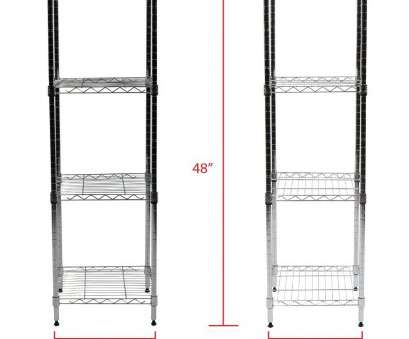 Apollo Hardware Chrome 4-Shelf Wire Shelving 14 X 15 X 48 Practical Shop Apollo Hardware Chrome 4-Shelf Wire Shelving 14