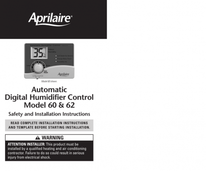 aprilaire 8570 thermostat wiring diagram Model 60/62 Humidifier Control Safety, Installation Instructions, manualzz.com Aprilaire 8570 Thermostat Wiring Diagram Fantastic Model 60/62 Humidifier Control Safety, Installation Instructions, Manualzz.Com Solutions