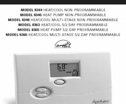 aprilaire 8570 thermostat wiring diagram Thermostat, Users Guides