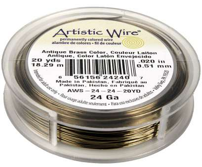 artistic wire 26 gauge natural Artistic Wire Copper Jewelry Wire, 24ga, 60ft, Antique Brass 20 New Artistic Wire 26 Gauge Natural Solutions