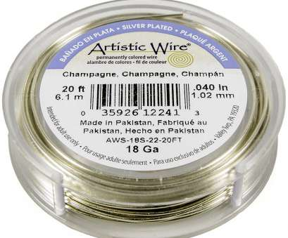 artistic wire 26 gauge natural Artistic Wire Silver Plated Copper Jewelry Wire, 18ga, 20ft, Champagne Artistic Wire 26 Gauge Natural Cleaver Artistic Wire Silver Plated Copper Jewelry Wire, 18Ga, 20Ft, Champagne Collections