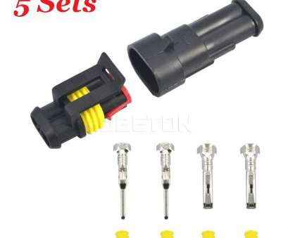 automotive electrical wire connectors 2 pin 5 sets, 2, Way, Seal Waterproof Connector 2P Plug Automotive Electrical Wire Connector Auto Xenon lamp Motorcycle HID-in Cables, Adapters & Sockets 9 Perfect Automotive Electrical Wire Connectors 2 Pin Photos
