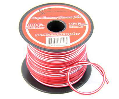 automotive electrical wire tracer 16 Gauge, with White Stripe Tracer Wire, 100' FT Automotive Electrical Wire Tracer Cleaver 16 Gauge, With White Stripe Tracer Wire, 100' FT Images
