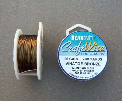 beadsmith 26 gauge wire 26 gauge Vintage Bronze Plated Craft Wire >> 30 yards, 26, Non-Tarnish Antique Brass, Beadsmith, Copper Core Wire (Made in USA) 19 Top Beadsmith 26 Gauge Wire Collections