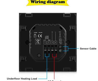Beok Thermostat Wiring Diagram Perfect 1* Thermostat 2* Mounting Screws 1* 3M External Sensor 1* User Guide, Thermostat, English) 1*, Installation Instruction Photos