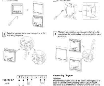 Beok Thermostat Wiring Diagram Top Beok TOL50S-EP Programmable, Display Digital Room Thermostat Underfloor Electric Heating Temperature Controller, 230V 16A, White: Amazon.Co.Uk:, & Pictures