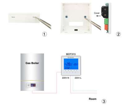 Beok Thermostat Wiring Diagram Brilliant BOT 313W Programmable Battery Power Room Digital Thermostat, Gas Boiler Heating Temperature Control Wall Mounted Thermostat-In Temperature Solutions