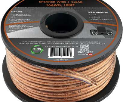 best speaker wire gauge for subwoofer Mediabridge 16AWG 2-Conductor Speaker Wire (100 Feet, Clear), Spooled Design with Sequential Foot Markings (Part# SW-16X2-100-CL) Best Speaker Wire Gauge, Subwoofer Professional Mediabridge 16AWG 2-Conductor Speaker Wire (100 Feet, Clear), Spooled Design With Sequential Foot Markings (Part# SW-16X2-100-CL) Galleries