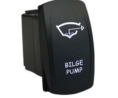 Bilge Pump Toggle Switch Wiring Brilliant 12 Volt 20Amp ON-OFF LASER Etched Marine Rocker Switch With Dual Pictures