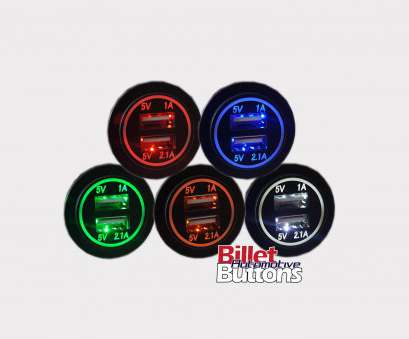 billet automotive buttons wiring diagram Water Resistant Dual, LED Dash Mount Charger Round 12-24v, Billet Automotive Buttons Billet Automotive Buttons Wiring Diagram Brilliant Water Resistant Dual, LED Dash Mount Charger Round 12-24V, Billet Automotive Buttons Collections
