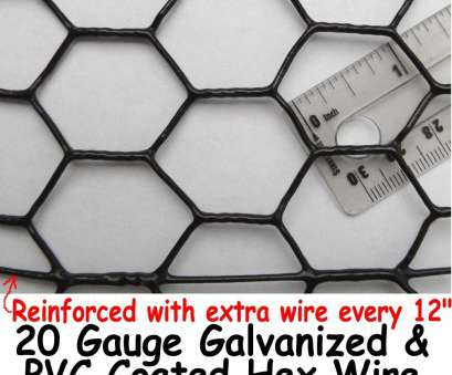 black pvc coated aviary wire mesh Chicken Wire Fence 5' x 150', Coated UV 1