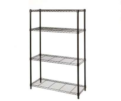 black epoxy wire shelving Seville Classics 14, x 36, x 54, 4-Tier Black Epoxy, Steel Wire Storage Shelving Black Epoxy Wire Shelving Cleaver Seville Classics 14, X 36, X 54, 4-Tier Black Epoxy, Steel Wire Storage Shelving Galleries