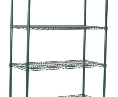 black epoxy wire shelving Winco VEXS-1836 4-Tier Wire Epoxy-Coated Shelving, 18