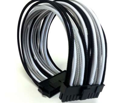 black and white electrical wires Premium Single Braid Sleeved 24-Pin (20+4) Extension Cable (Black/Grey/White), modDIY.com Black, White Electrical Wires Nice Premium Single Braid Sleeved 24-Pin (20+4) Extension Cable (Black/Grey/White), ModDIY.Com Galleries