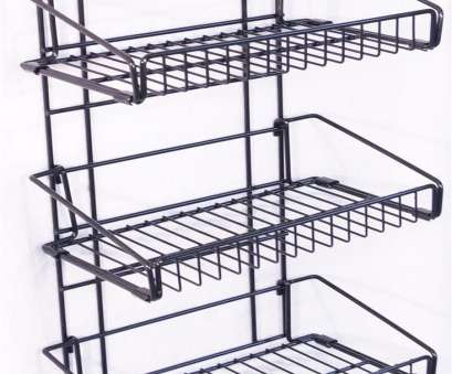 black wire basket shelf Magnetic Wire Basket, Attaches to Open, Coolers, 3 Open Shelves, Black 19 Cleaver Black Wire Basket Shelf Photos