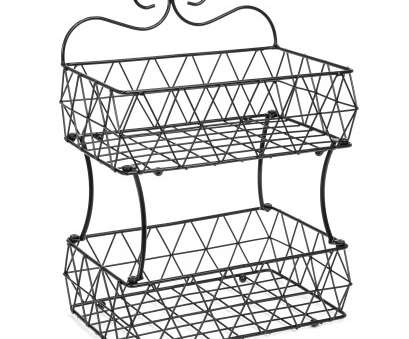 black wire basket shelf Best Choice Products 2 Tier Removable Metal Fruit Basket Stand Wire Bread Fruit Storage Rack (Black) Black Wire Basket Shelf Best Best Choice Products 2 Tier Removable Metal Fruit Basket Stand Wire Bread Fruit Storage Rack (Black) Photos