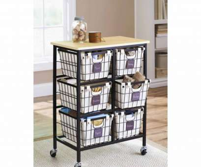 black wire basket shelving Better Homes, Gardens 6 Drawer Wire Cart, Black 10 Most Black Wire Basket Shelving Ideas