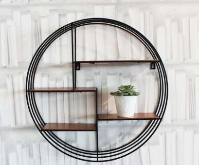 black wire circle shelf Round Copper Deco Shelf 15 Simple Black Wire Circle Shelf Pictures