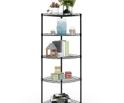 black wire shelf bathroom Lifewit 5-Tire Corner Wire Shelf Bathroom Corner Shelf,Black 8 Simple Black Wire Shelf Bathroom Ideas