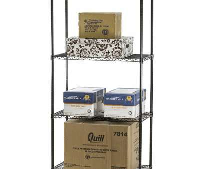 Black Wire Shelf Bathroom Top Black Wire Shelving With 4 Shelves, Standard Duty,, Shelving Galleries