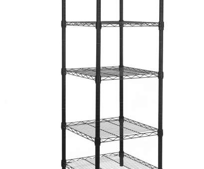Black Wire Shelf Bathroom Simple Get Quotations · HollyHOME 5 Shelves Adjustable Steel Wire Shelving Rack In Small Space Or Room Corner, Metal Ideas