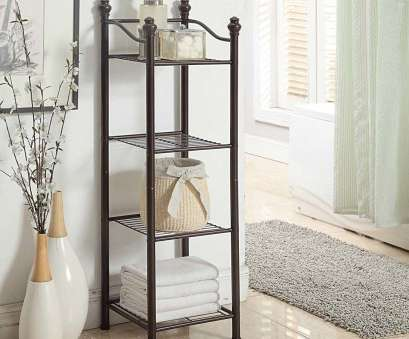 Black Wire Shelf Bathroom Most Organize It, Belgium 4 Tier Bathroom Tower (13.75 X 13.75 X 42.75), Black Collections