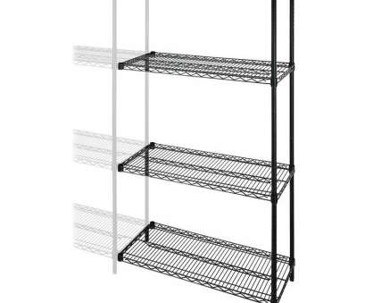 black wire shelving accessories Add-on Unit is designed to expand Lorell Industrial Wire Shelving Starter Kits (sold separately), organize your storage areas., includes four, wide Black Wire Shelving Accessories Cleaver Add-On Unit Is Designed To Expand Lorell Industrial Wire Shelving Starter Kits (Sold Separately), Organize Your Storage Areas., Includes Four, Wide Images