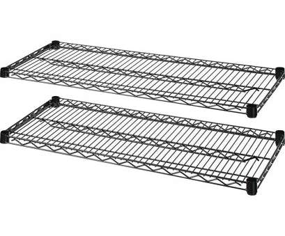 black wire shelving accessories Lorell Industrial Wire Shelving -, x, x 1.6