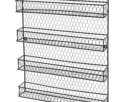 black wire wall shelving 4 Tier Black Country Rustic Chicken Wire Pantry, Cabinet or Wall Mounted Spice Rack Storage Organizer-in Storage Holders & Racks from Home & Garden on Black Wire Wall Shelving Professional 4 Tier Black Country Rustic Chicken Wire Pantry, Cabinet Or Wall Mounted Spice Rack Storage Organizer-In Storage Holders & Racks From Home & Garden On Pictures
