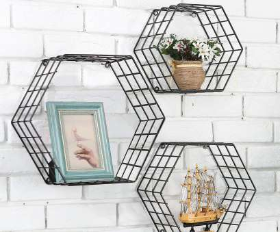 black wire wall shelving Details about Metal Wire Hexagon Design Wall Mounted Floating Shelves,, of 3, Black Black Wire Wall Shelving Fantastic Details About Metal Wire Hexagon Design Wall Mounted Floating Shelves,, Of 3, Black Photos