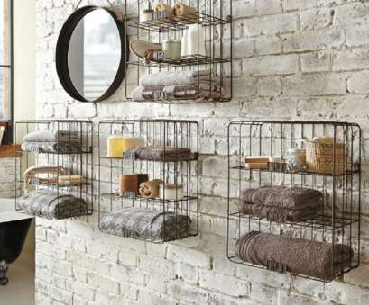 black wire wall shelving gorgeous black wire bathroom shelves design like bird cage on rustic brick wall design with framed Black Wire Wall Shelving Cleaver Gorgeous Black Wire Bathroom Shelves Design Like Bird Cage On Rustic Brick Wall Design With Framed Photos