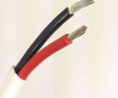 boat speaker wire gauge 18, 2 Conductor Wire, Marine Grade Boat Cable with White overall jacket with Black, Red conductors inside used, wiring DC applications 16 Cleaver Boat Speaker Wire Gauge Pictures