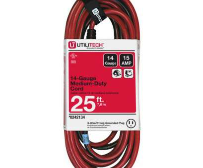 Can 12 Gauge Wire Be Used With A 15, Breaker Practical Display Product Reviews, 25-Ft 15-Amp 120-Volt 1-Outlet Solutions