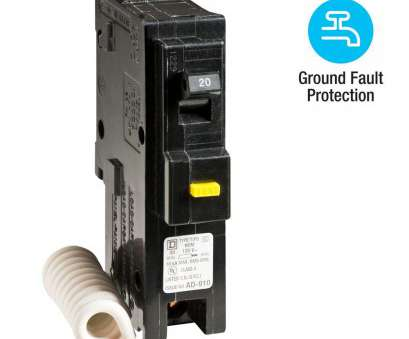 Can 12 Gauge Wire Be Used With A 15, Breaker Creative Square D Homeline 20, Single-Pole GFCI Circuit Breaker Pictures