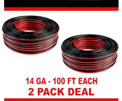 car speaker wire what gauge 2 Pack 100' feet 14 Gauge, Black Stranded 2 Conductor Speaker Wire, Audio Car Speaker Wire What Gauge Popular 2 Pack 100' Feet 14 Gauge, Black Stranded 2 Conductor Speaker Wire, Audio Pictures