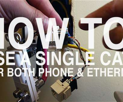 cat 5 wiring diagram youtube new how to, a single cat5 cable, both  phone