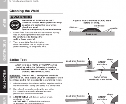 chicago electric 90 amp flux wire welder manual Cleaning, weld, Strike test, Chicago Electric 90, FLUX WIRE WELDER 68887 User Chicago Electric 90, Flux Wire Welder Manual Brilliant Cleaning, Weld, Strike Test, Chicago Electric 90, FLUX WIRE WELDER 68887 User Images