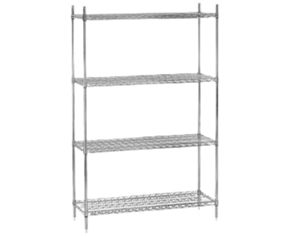chrome plated wire shelving Advance Tabco EC-2142-X Wire Shelving, 42