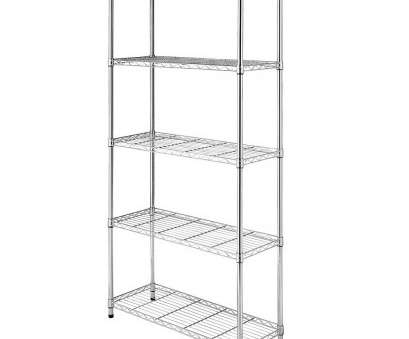 chrome plated wire shelving Details about 5 Tier Wire Steel Shelving Rack Heavy Duty 73