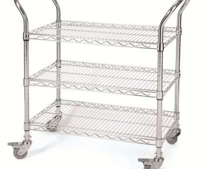 chrome wire shelf trolleys 2, Tier General Purpose TrolleysStrong, durable chrome wire trolley with adjustable shelves. Units fitted with, swivel castors, 2 braked Chrome Wire Shelf Trolleys Nice 2, Tier General Purpose TrolleysStrong, Durable Chrome Wire Trolley With Adjustable Shelves. Units Fitted With, Swivel Castors, 2 Braked Photos