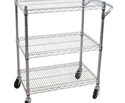 chrome wire shelf trolleys 3-Tier Steel Heavy Duty All-Purpose Utility Cart Chrome Wire Shelf Trolleys Brilliant 3-Tier Steel Heavy Duty All-Purpose Utility Cart Ideas