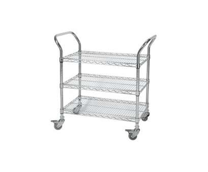 chrome wire shelf trolleys Chrome Wire Shelf Trolleys Cap: 150kg Chrome Wire Shelf Trolleys New Chrome Wire Shelf Trolleys Cap: 150Kg Solutions