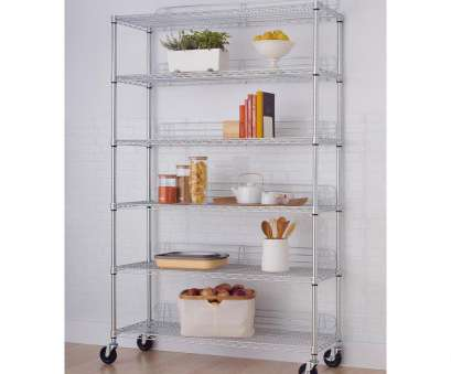 chrome wire shelving for bathroom Trinity 77, x 48, x 18, 6-Tier Wire Shelving Rack with Wheels in Chrome Chrome Wire Shelving, Bathroom Top Trinity 77, X 48, X 18, 6-Tier Wire Shelving Rack With Wheels In Chrome Pictures