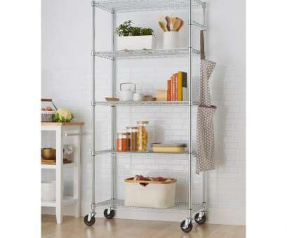 chrome wire shelving for bathroom Trinity EcoStorage 5-Tier Wire 36, x 18, x 72, Shelving Rack with Wheels in Chrome Chrome Wire Shelving, Bathroom Fantastic Trinity EcoStorage 5-Tier Wire 36, X 18, X 72, Shelving Rack With Wheels In Chrome Galleries