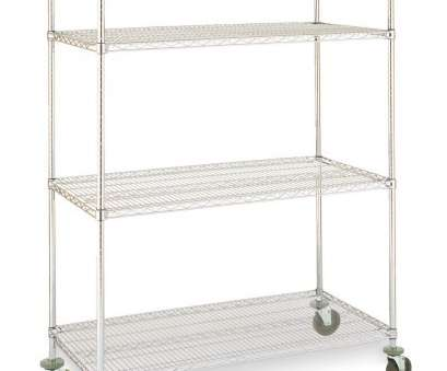 chrome wire shelving drawers MJ1872-54UC Olympic Wire Shelving Cart 18