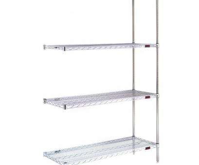 chrome wire shelving s-hooks Stationary Wire Shelving Add-on Unit, Model A4-63 Chrome Chrome Wire Shelving S-Hooks Practical Stationary Wire Shelving Add-On Unit, Model A4-63 Chrome Pictures