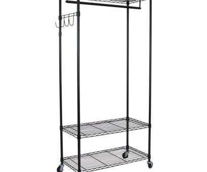 chrome wire shelving singapore Oceanstar 35.7, x 75.5, Heavy Duty 3-Shelf Steel Adjustable 4-Wheeled Garment Rack with Hooks in Black Chrome Wire Shelving Singapore Fantastic Oceanstar 35.7, X 75.5, Heavy Duty 3-Shelf Steel Adjustable 4-Wheeled Garment Rack With Hooks In Black Images