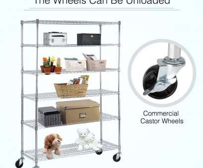 chrome wire shelving south africa Details about Adjustable 6 Tier Wire Shelving Rack 82