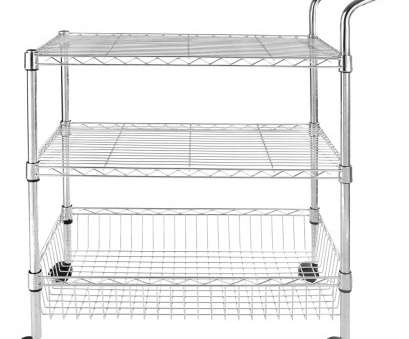 chrome wire shelving trolley Details about 3-Tier Wire Rolling Kitchen Utility Cart Trolley Rack Food Service with handle Chrome Wire Shelving Trolley Nice Details About 3-Tier Wire Rolling Kitchen Utility Cart Trolley Rack Food Service With Handle Solutions